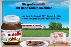 Bahn Gutschein Nutella Seite